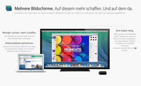 OS X Mavericks - Bildschirme