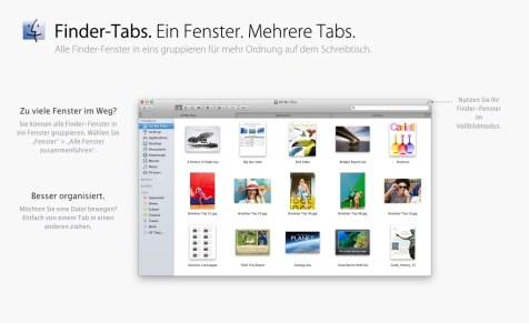 OS X Mavericks - Finder Tabs