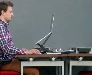 Auf Augenhöhe mit dem MacBook