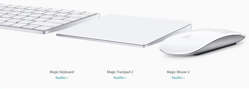 NEU: Apple Magic Keyboard, Magic Trackpad 2, Magic Mouse 2
