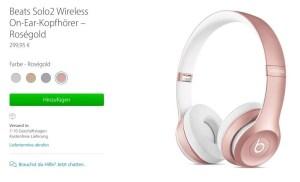 Rosa Beats: Apple Beats Solo 2 Wireless und urBeats InEar Kopfhörer in roségold!