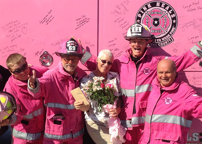 Pink Fire Engine Plans Travel Across The Atlantic