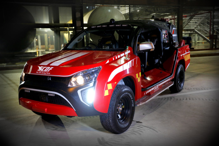 HOPE Technik boosts urban fire-fighting capabilities with newest Red Rhino unveiled at Home Team Festival 2015