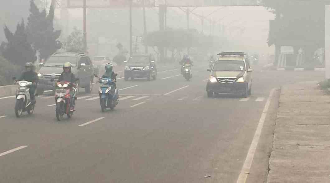 Haze in Palangkaraya, Central Kalimantan, Indonesia 2015.