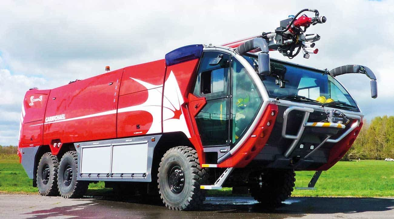 New Carmichael Cobra 3 – the world's exceptional aircraft rescue and fire fighting vehicle.