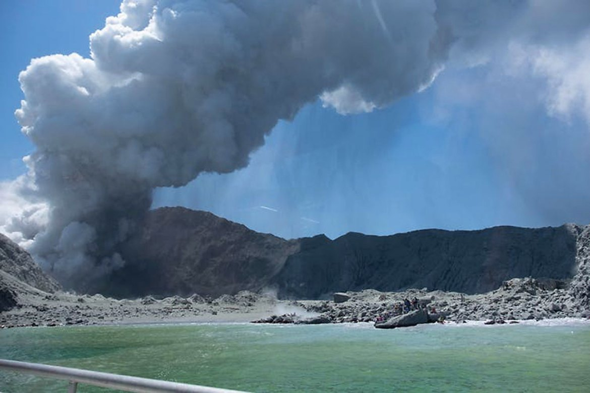 Figure 2. Photograph of the eruption of White Island Volcano taken by a visitor.