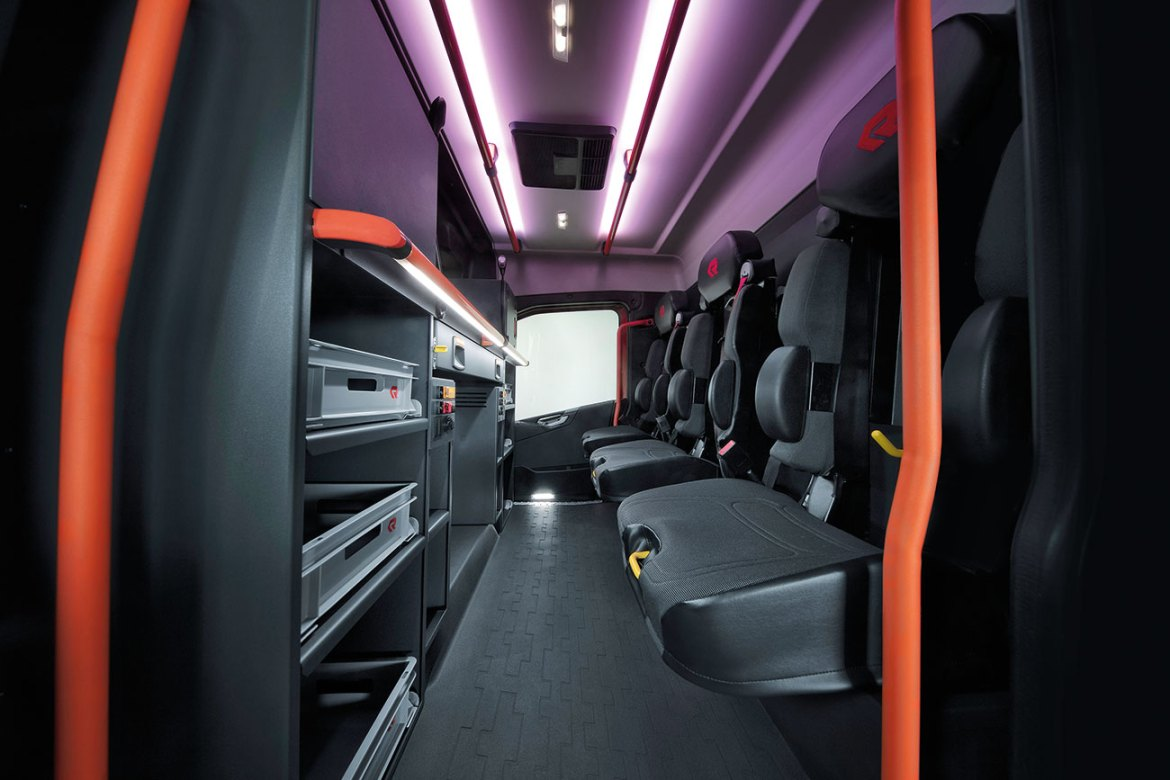 Firefighter wellbeing is at the forefront of the new Crew Cab design.