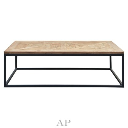 bradley-mango-wood-rectangle-coffee-table-parquetry-top-black-legs-ap-furniture