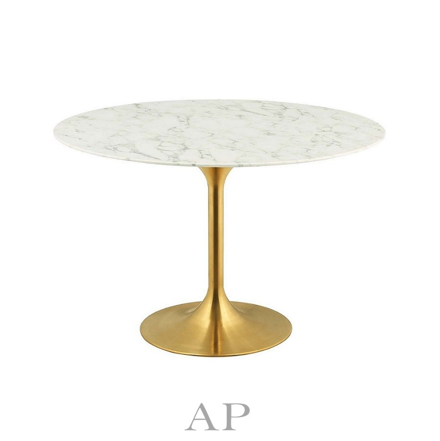 Replica Tulip Round Marble Dining Table 120cm Modern