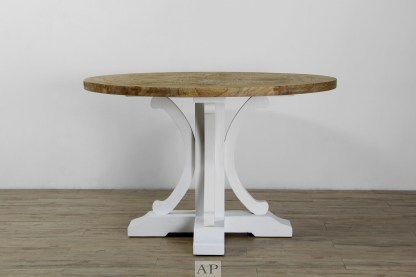 taylor-parquetry-round-dining-table-120cm-150cm-white-legs-front-ap-furniture