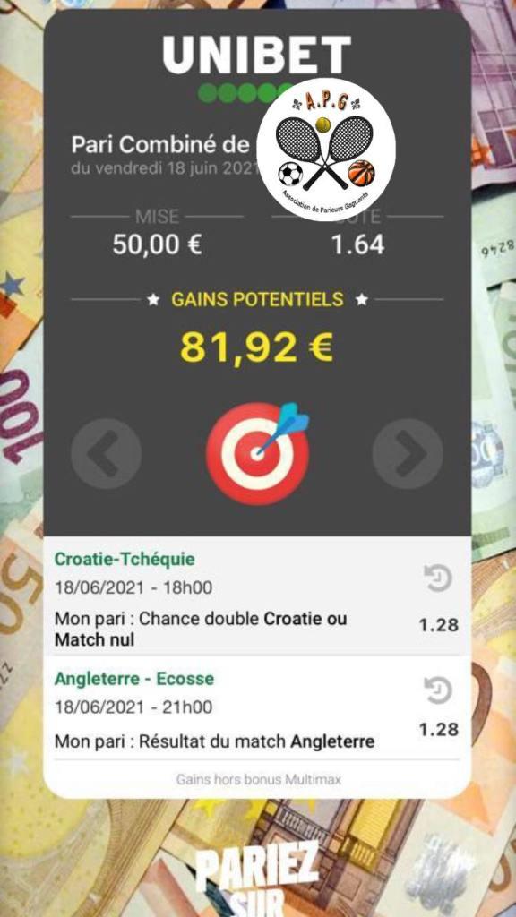 Prono ticket euro challenge