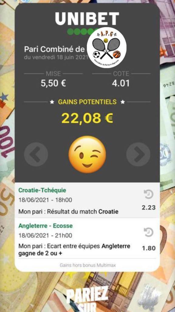 Prono ticket euro challenge 2