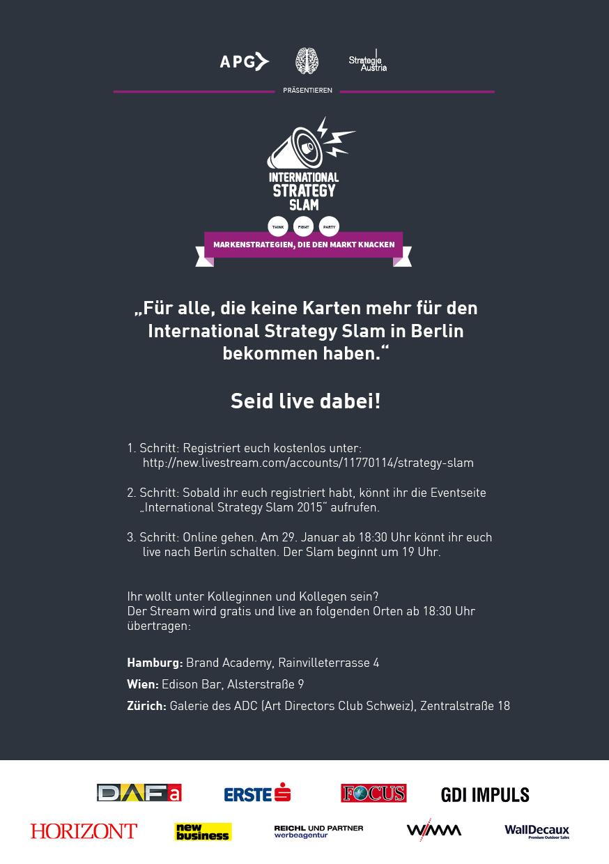 Anleitung Livestream Strategy Slam 2015NEU