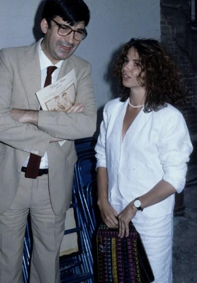 El diputado socialista Ernest Lluch y la actriz Victoria Abril