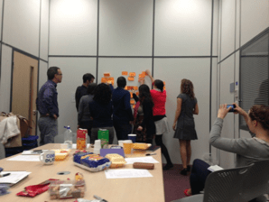 Affinity mapping - during an early workshop