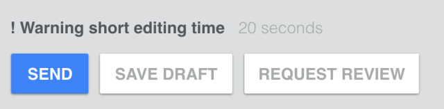 Feature idea for Inbox - to encourage extra thought if the context demands it. The 'Request review' option could suggest specific contacts to forward the draft to (for feedback).
