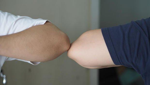 elbow bumps