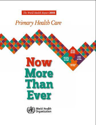 WHO World Health Report 2008