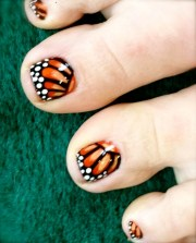 monarch butterfly toe nails aphan