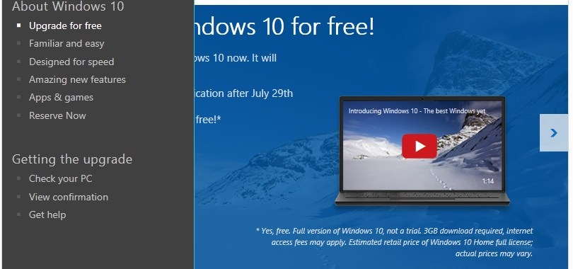 GetWindows10 menu Call (224) 303-4312