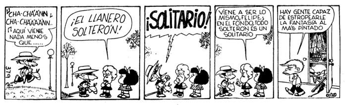 Mafalda: The Single Cowboy / El Llanero Solterón (Quino, 1972)