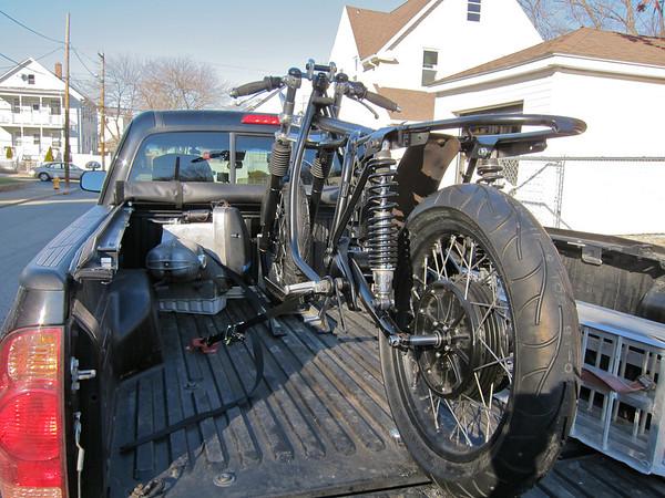 Bike in truck.