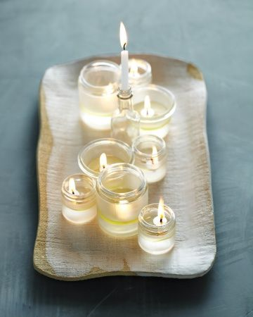 Candle table scape.