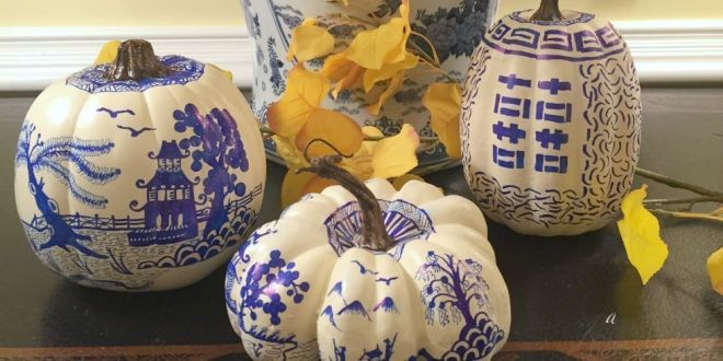 Fall Chinoiserie Pumpkins