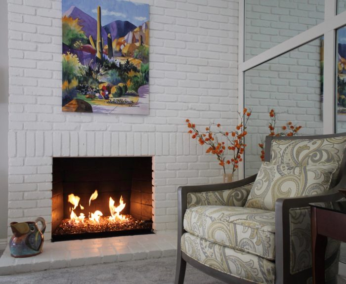 Thousand Oaks Fireplace - Alicia Paley Home Interiors