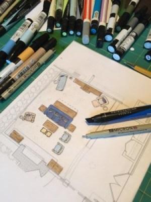 Interior Designer Drawing