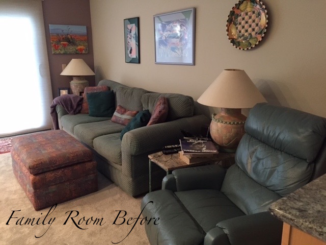 Before - Thousand Oaks Family Room Update