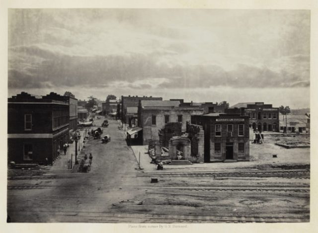 George N. Barnard, City of Atlanta, Georgia, No. 2, from Photographic Views of Sherman's Campaign, 1866; albumen print; 10 1/16 x 14 3/16 in. (25.56 x 36.04 cm); Collection of the Sack Photographic Trust
