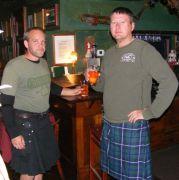 Men in Kilts at Porters Pub in Easton, PA