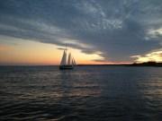 Night Sail on Narragansett - Photo by Captain Mark Paltridge