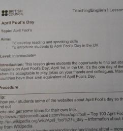 April Fool's Day pranks for students!   ELT inspired [ 768 x 1024 Pixel ]