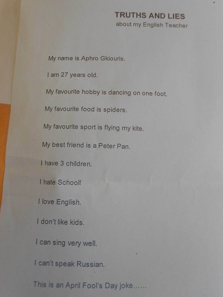 hight resolution of April Fool's Day pranks for students!   ELT inspired