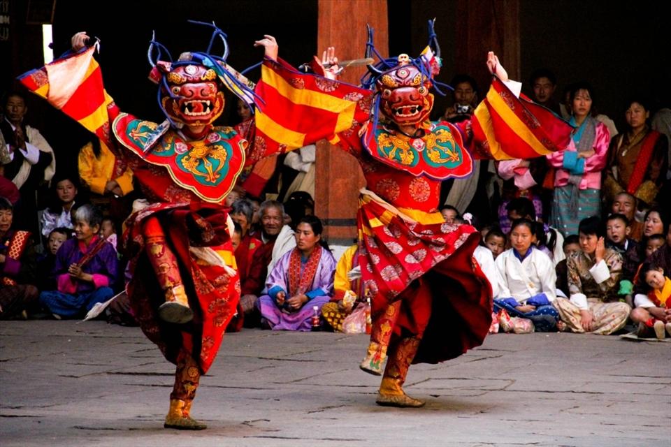 Bhutan Local Dancers