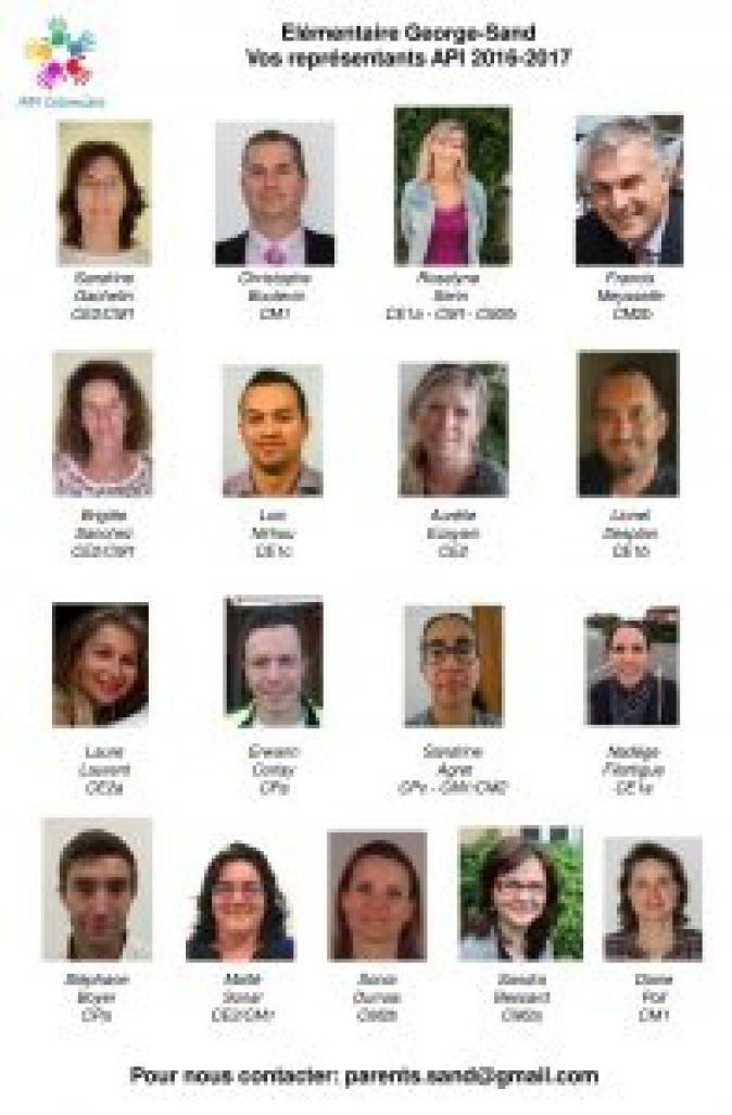 Trombinoscope API Élémentaire 2016-2017