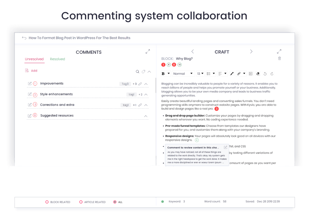 blog management software collaboration for freelancers