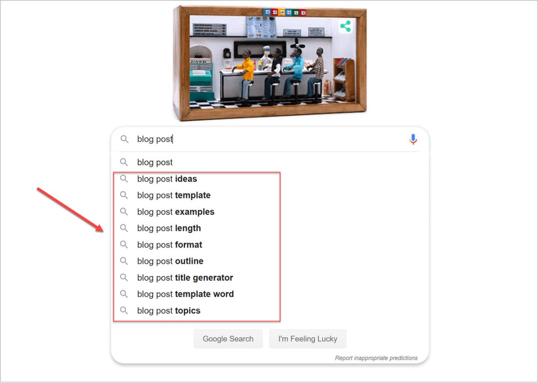 keyword research tools for seo blog posts (Google search)