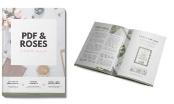 PDF & Roses Newsletter Magazin