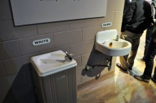 Water fountains symbolize 1960s civil rights movement