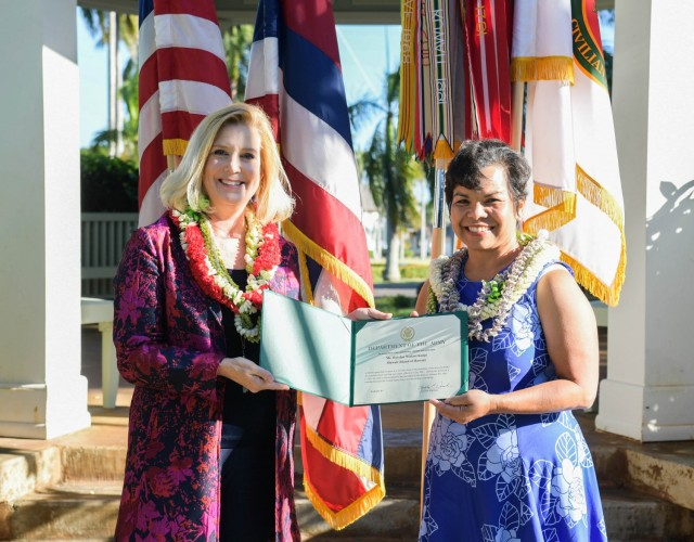Secretary of the Army Christine Wormuth appoints Noelani Kalipi as a new Civilian Aide.