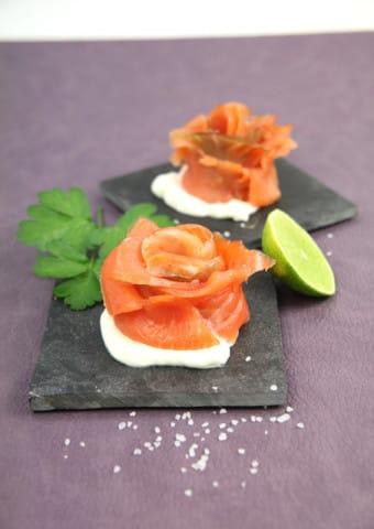 Faire Du Saumon Fumé : faire, saumon, fumé, Rouler, Tranche, Saumon, Fleur, Astuce, Bridélice
