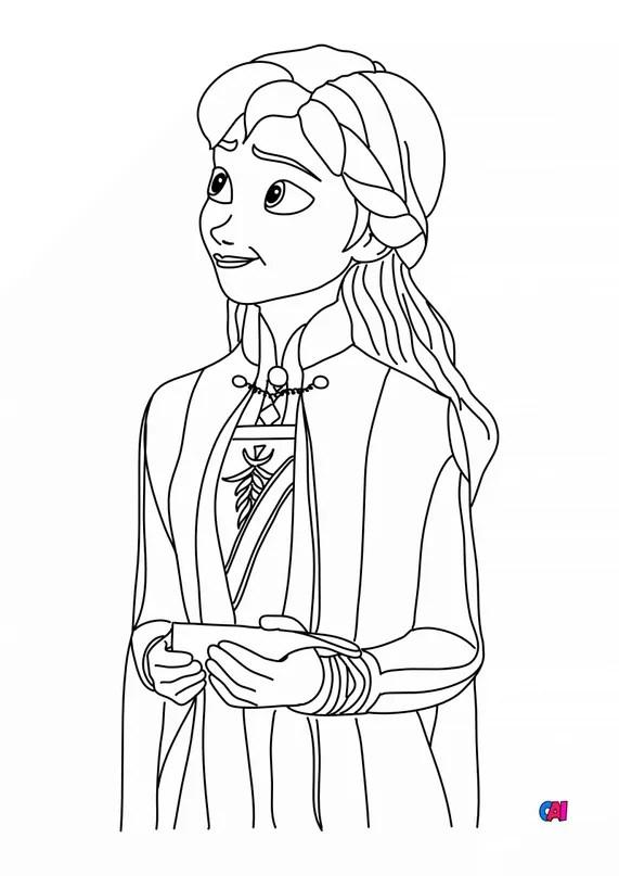 Dessin Reine Des Neiges 2 : dessin, reine, neiges, Coloriage, Reine, Neiges, Imprimer