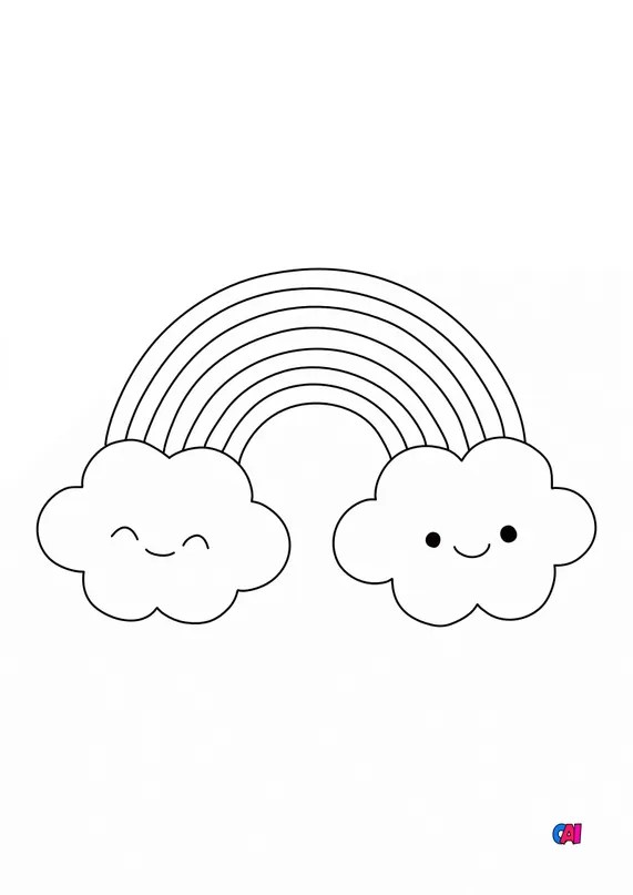 Arc En Ciel à Colorier : colorier, Premiers, Coloriages, Imprimer