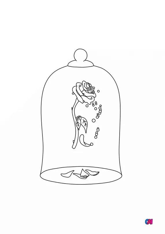 Dessin Rose La Belle Et La Bete : dessin, belle, Coloriage, Belle, Bête, Imprimer