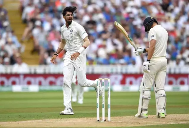 Dawid Malan was removed by Ishant Sharma after a brief resilient 31-run stand between him and Bairstow.