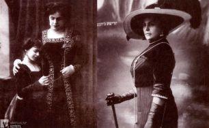 Ester Rachel Kamińska z córką Idą, zdjęcie z około 1907 roku, fot. autor nieznany/sztetl.org.pl