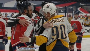 Nick Foligno vs. Mark Borowiecki